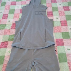 Under armour matching shorts and top